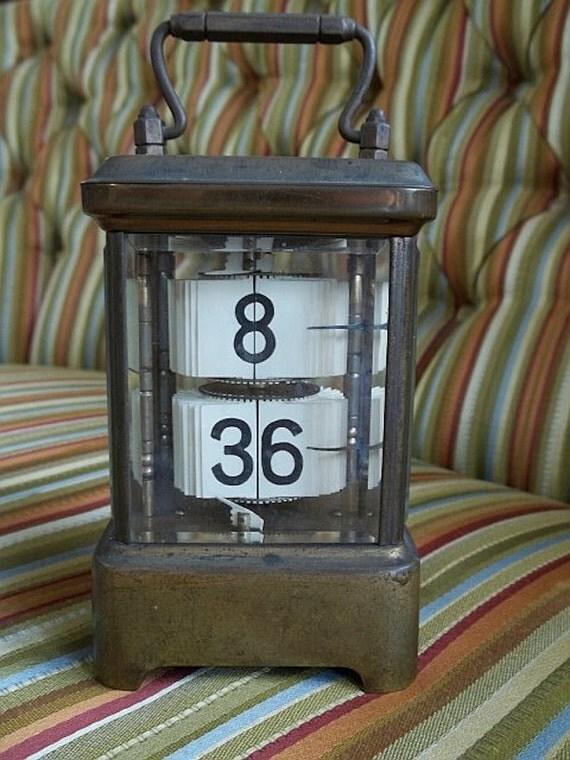 Incredibly Rare 1902 ANSONIA PLATO CLOCK- Brass Carriage Clock- Steampunk