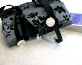 Gray and Black Tarot Deck Reading Cloth and Carrying Case