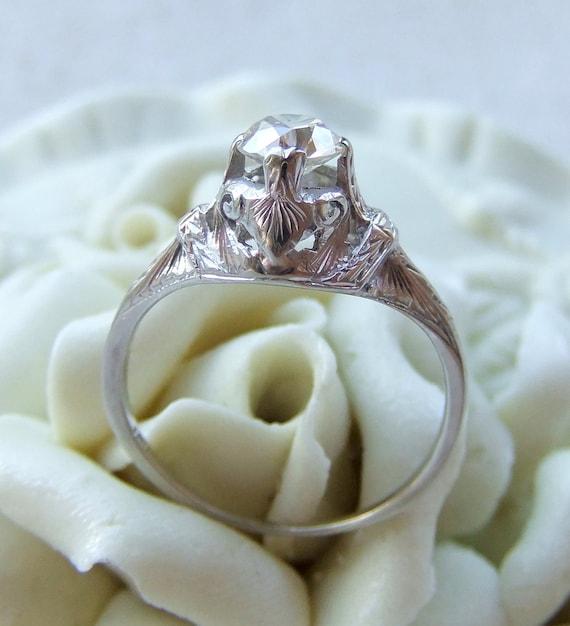 Antique Diamond Art Deco Engagement Ring