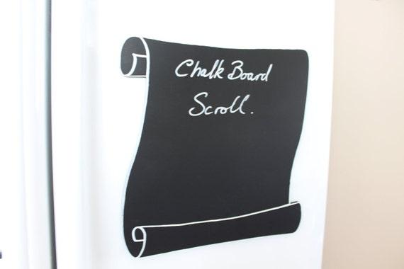 Chalkboard Scroll.....Or is it Scroll Chalk Board. Magnetic.