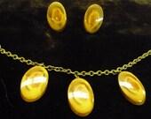 Vintage Wood Earring and Bracelet Set