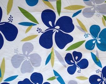 Hoffman Fabric Blue w/Lime Hawaiian