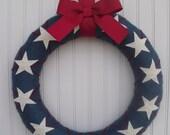 Patriotic Argile Wreath (14 inches)