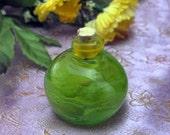 Poison Bottle - Handmade Lampworked Bottle - Light Green