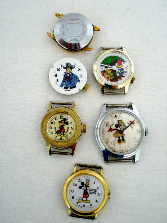 Vintage Watches Disney all five