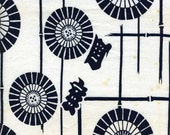 """Parasols on Indigo-Dyed Old-Stock Japanese Cotton -- By the yard at 14"""" wide"""