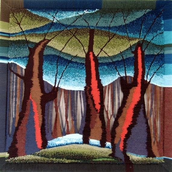 Trees sisters/ Weaving tapestry/ Hand craft