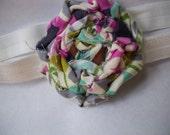 Multicolor Rolled Rose Headband