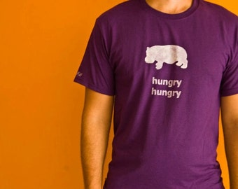 Hungry hungry hippo Adult Vegan T-shirt