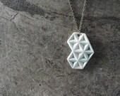On hold for Elly...handmade ceramic pendant, geometric design