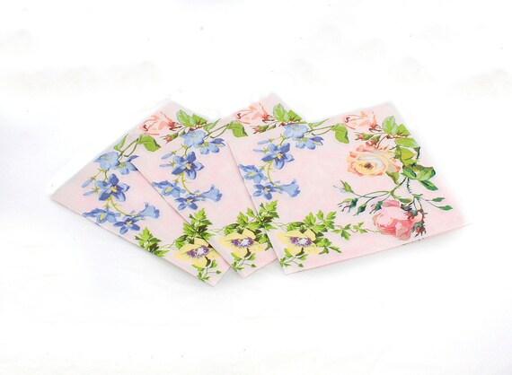 Napkin serviette for decoupage x 1.  Fresh summer floral.   No 1011