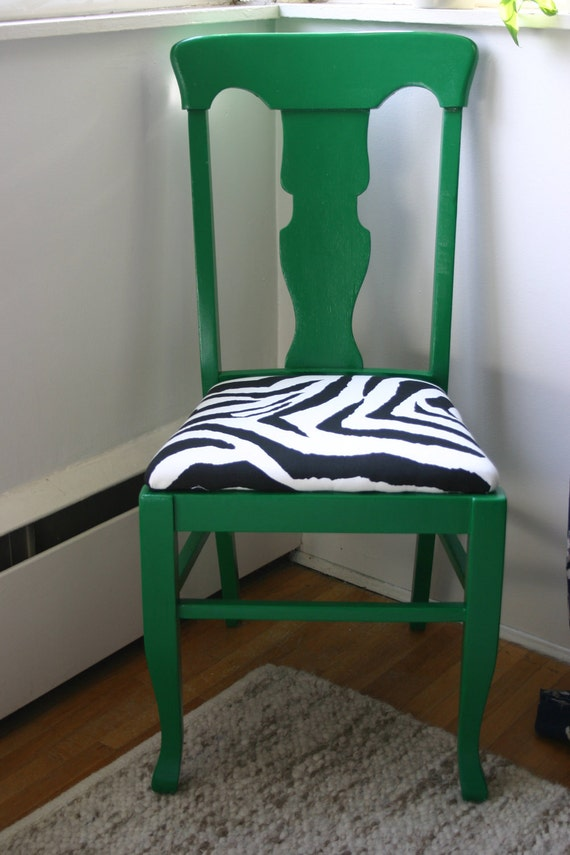 Items Similar To Vintage Chair Green Dining Chair With