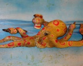 Octopus Chainsaw Carving Beer Pizza Novelty Wall Mount