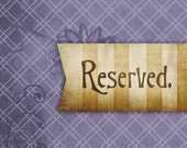 Reserved for Christine C.