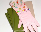 Repurposed Vintage Pink Glove with Polka Dot Pizazz