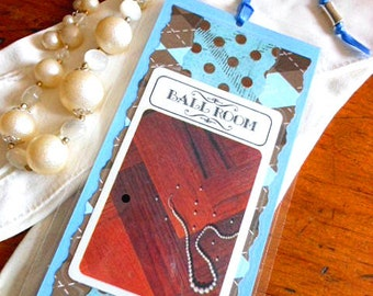 Vintage Clue Game Ballroom Card Recyled Laminated Bookmark