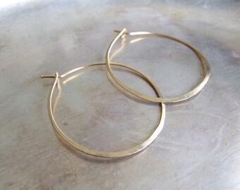 "Gold Hoops - large hoop earrings 1.5"" (3.8-4cm) 14K gold filled simple minimalist basic interchangeable bail add-a-dangle  Gift"