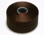 Brown C-Lon Beading Thread, Size D, 1 Bobbin of 78 Yards, Item 624