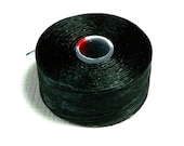 Black C-Lon Beading Thread, Size D, 1 Bobbin of 78 Yards, Item 466