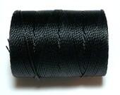 Black C-Lon Bead Cord, 1 Bobbin of 92 Yards - Item 650