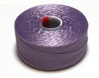 Lavender C-Lon Beading Thread, Size D, 1 Bobbin of 78 Yards, Item 630