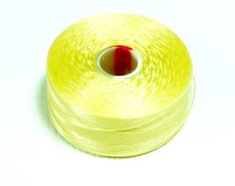 Dark Cream C-Lon Beading Thread, Size D, 1 Bobbin of 78 Yards, Item 131
