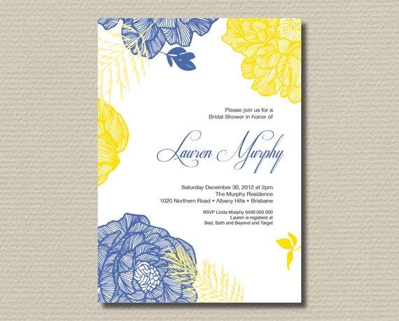 items similar to printable bridal shower invitation