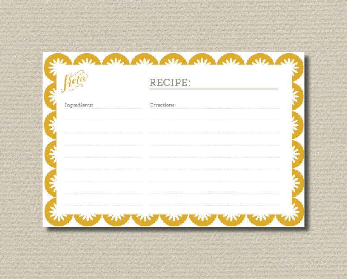 Recipe Cards For Bridal Shower Bridal shower recipe cards