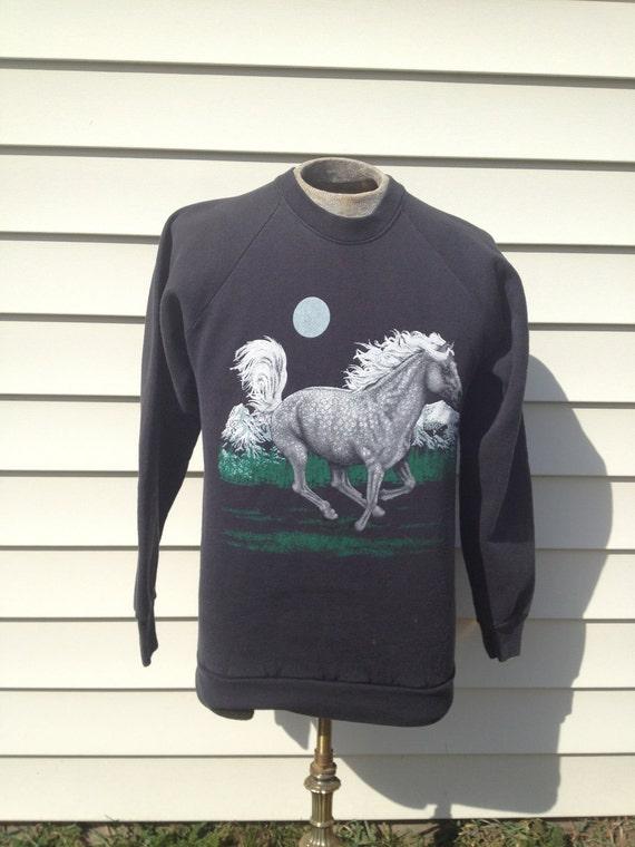 Retro // Vintage // Horse Sweatshirt // 80s 90s