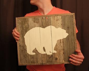 Bear Reclaimed Wood Wall Art