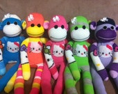 Hello Kitty Sock Monkey- made to order