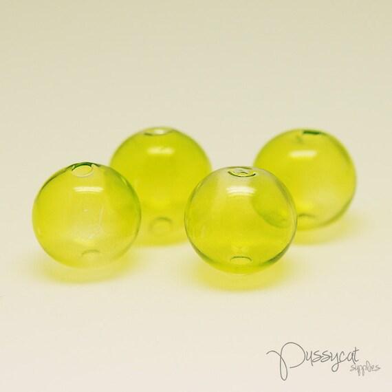 5pcs 13.5mm Handmade Blown Hollow Round Glass Beads