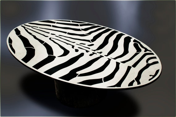 Zebra Coffee Table Top By 910castings On Etsy