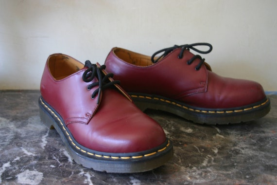 UK5 / US7 Burgundy Rockabilly Doc Marten's Oxfords