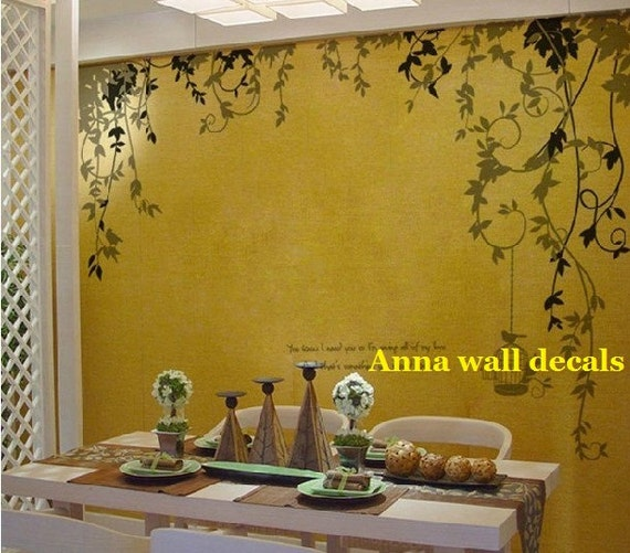Wall Decor Stickers Penang : Love garden wall decals nature vinyl by