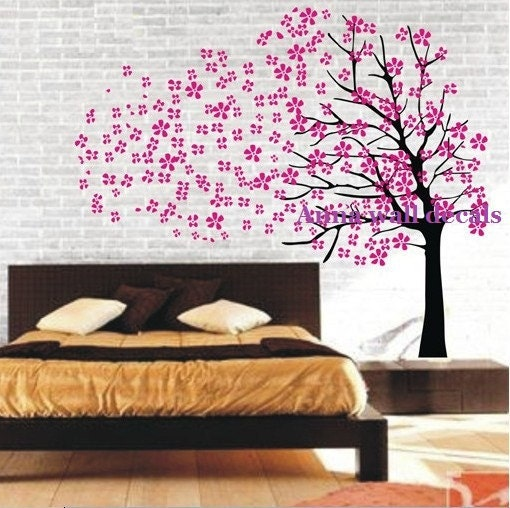 Cherry blossom tree wall decals cherry blossom tree by for Cherry blossom tree mural