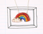 Rainbow Beaded Necklace- MADE TO ORDER
