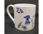 China mug 'Blue Willow Ladybird'