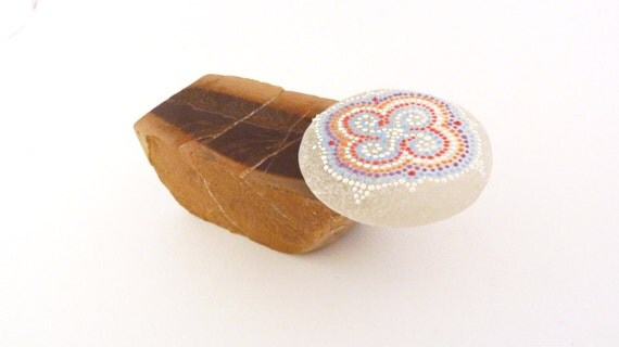 RESERVED FOR DAVE - Mother's Love / Hand painted stone by circle and the dot