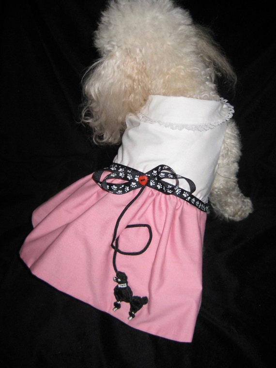 Pink Poodle-CUSTOM SIZE Add length,girth,neck measurements to comment section of order .  All sizes accepted.