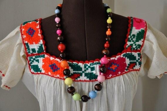 VINTAGE Bohemian Hippie Dress