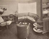 1941 MID CENTURY MODERN Art Deco Furniture and Decoration Aronson book