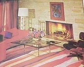 1971 MID CENTURY MODERN Space Age Mod interior decorating book Good Housekeeping