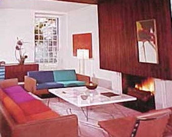 1965 MID CENTURY Modern Decorating Decoration USA Wilson Leaman book