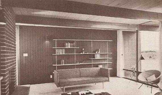 1968 MID CENTURY MODERN House Construction Details Burbank design plans book