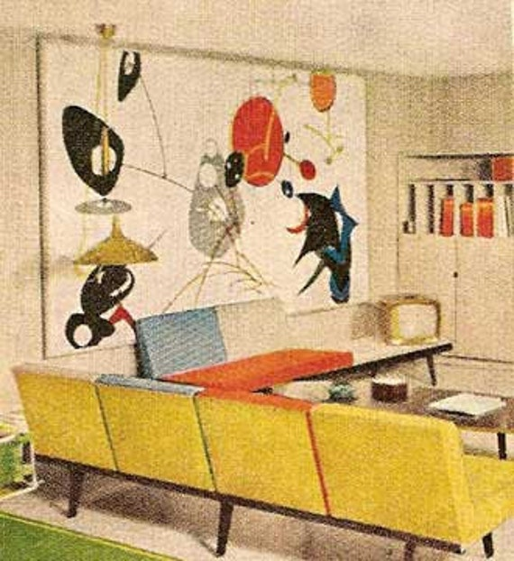 1960 mid century modern decorating book better homes 1001 decor ideas - Mid Century Decor