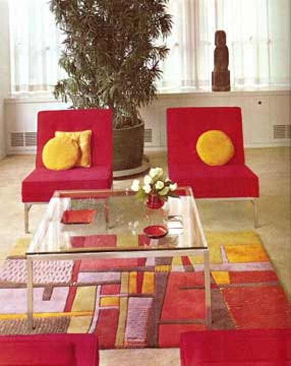 1965 MID CENTURY MODERN Decorating from A to Z guide book Pepis