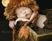 Newborn Lion Hat Photography Prop