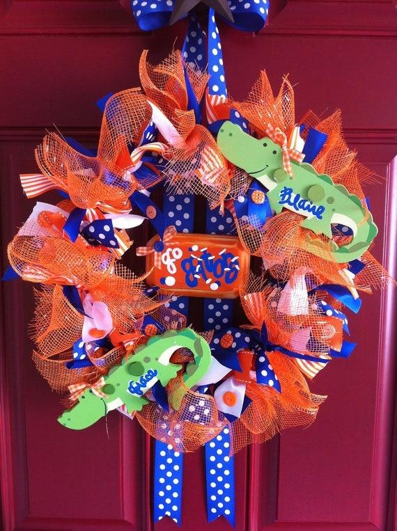 Custom School/Team/Gameday Mesh & Ribbon Personalized Wreath