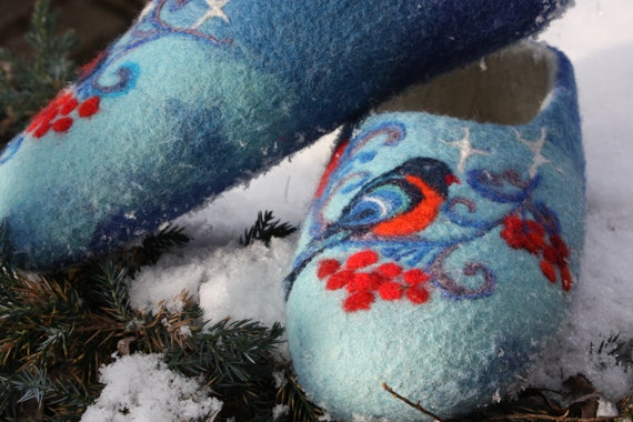Felted Slippers- Winter time Made to order